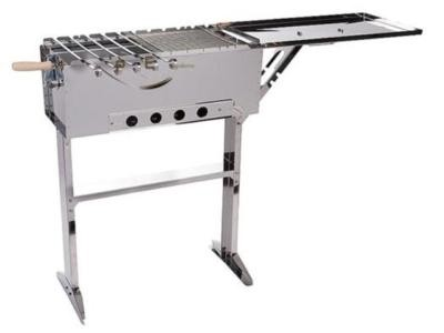 schaschlik grill edelstahl grill mangal mit deckel ebay. Black Bedroom Furniture Sets. Home Design Ideas