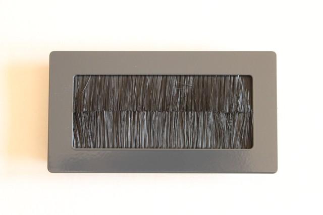 Kabeldurchführung Aluminium 130x70mm Pulverbeschichtet Anthrait | eBay