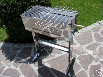 schaschlikgrill mangal edelstahlgrill grill ebay. Black Bedroom Furniture Sets. Home Design Ideas