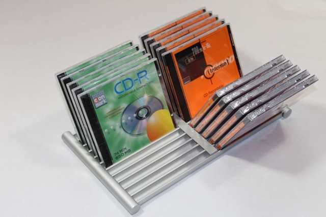 cd leaves flip for 22 cds cd stand cd storage. Black Bedroom Furniture Sets. Home Design Ideas