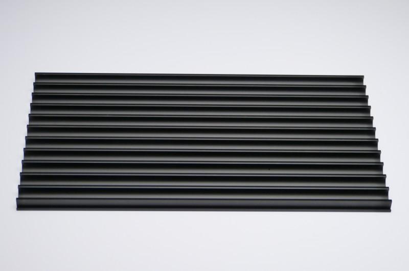 cd st nder aluminium schwarz f r 22 cd 39 s. Black Bedroom Furniture Sets. Home Design Ideas