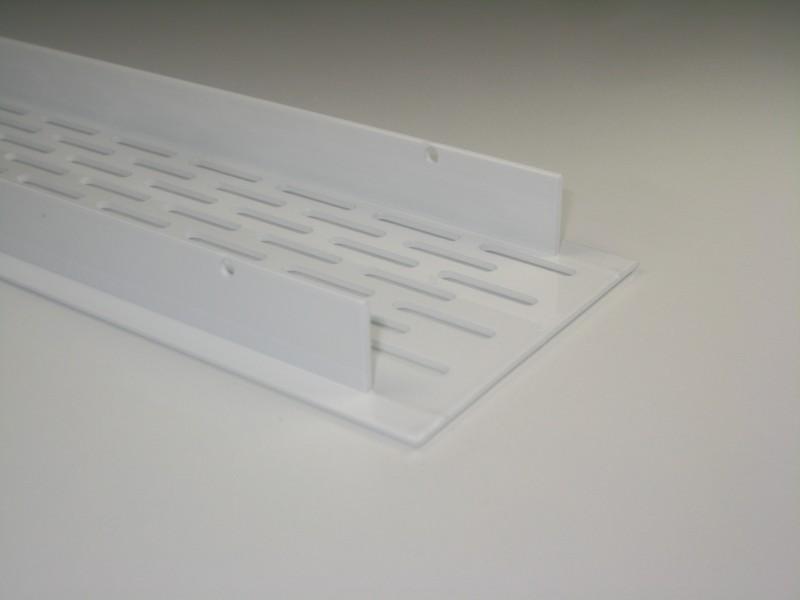 Luftungsgitter aus aluminium weiss 750 x 70 mm for Lüftungsgitter küche