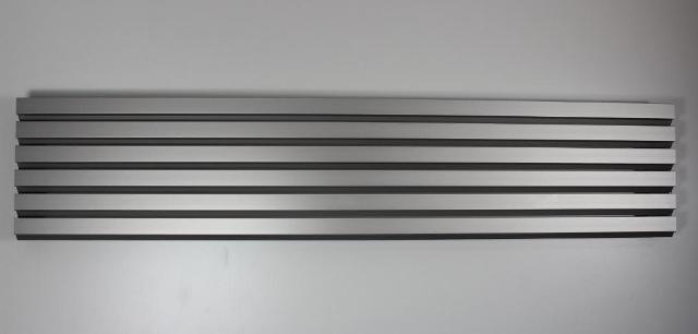 lamellengitter aus aluminium in silber. Black Bedroom Furniture Sets. Home Design Ideas