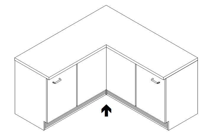 Küchenschrank Ecke : Sockelblende Kueche Unterschrank Farbe Optik U2013  Ailedange.info