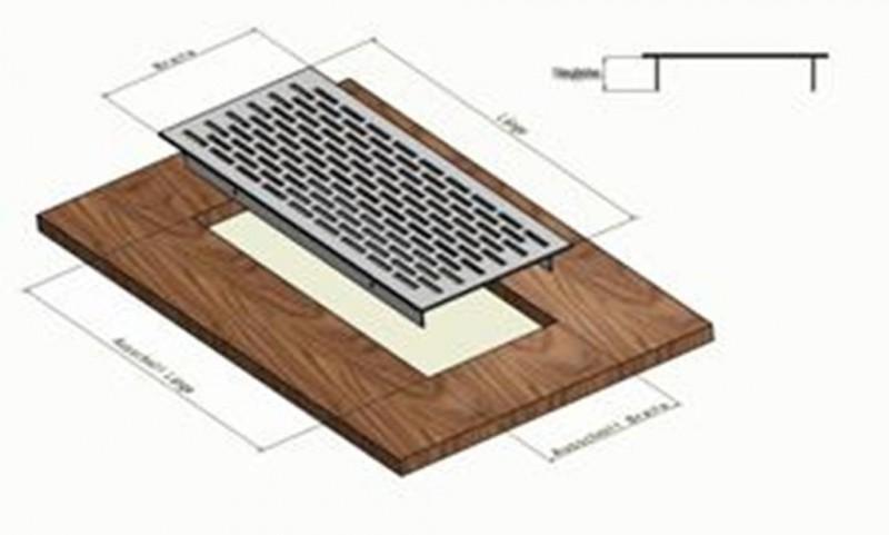l ftungsgitter lochblech aluminium silber 500 x 80 mm. Black Bedroom Furniture Sets. Home Design Ideas